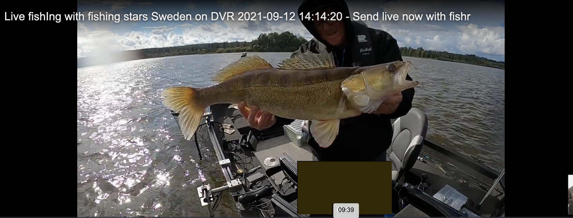 Live fishIng with fishing stars Sweden on DVR 2021-09-12 14:14:20